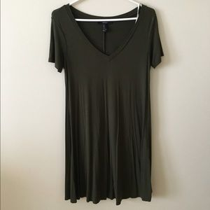 Flowy olive green dress